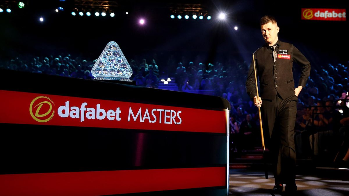 Kyren Wilson of England makes his way out to the table during his first round match against Judd Trump of England on day four of The 2019 Dafabet Masters at Alexandra Palace on January 16, 2019 in London, England