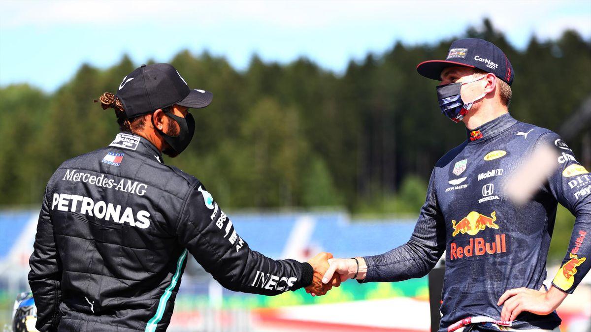 Kämpften um den WM-Titel 2020: Max Verstappen (rechts) und Lewis Hamilton