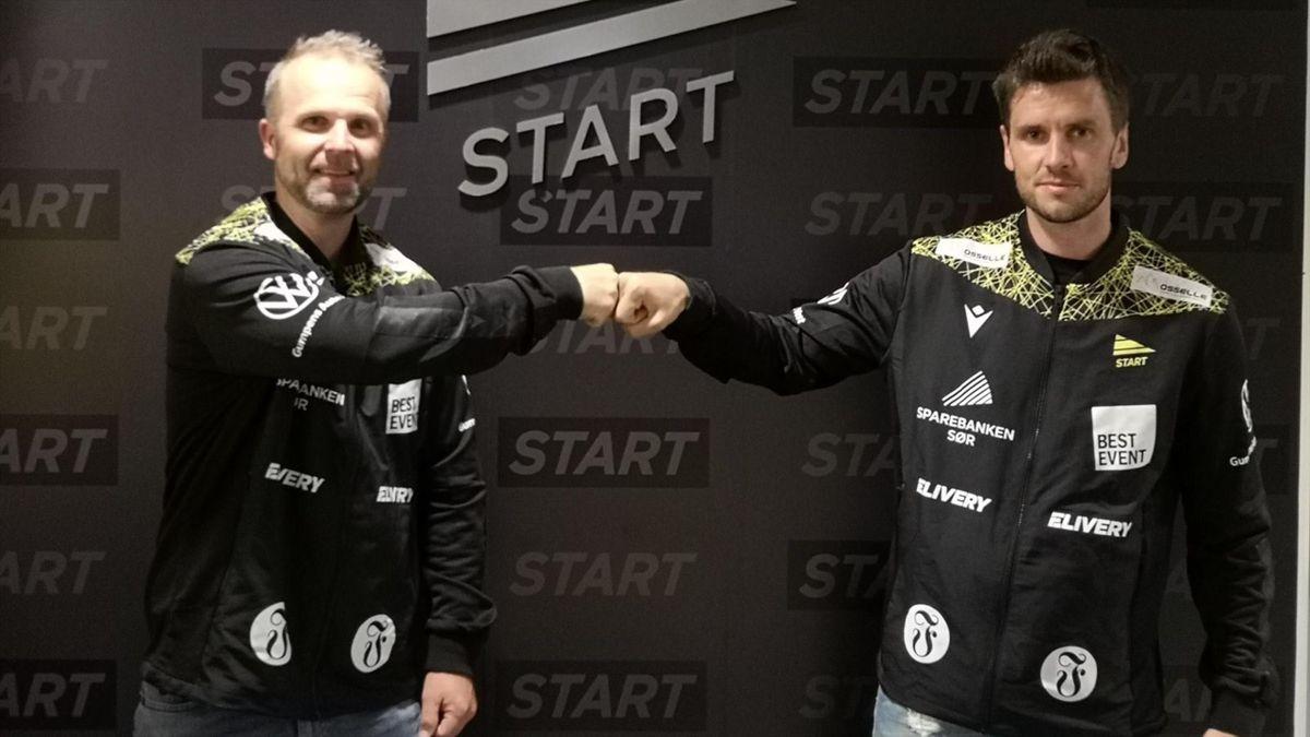 Sindre Tjelmeland (høyre) er Starts nye sjef