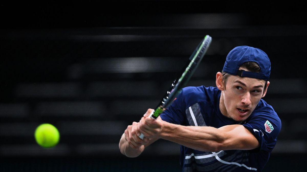 Alex De Minaur lors du Masters 1000 de Paris-Bercy en 2020