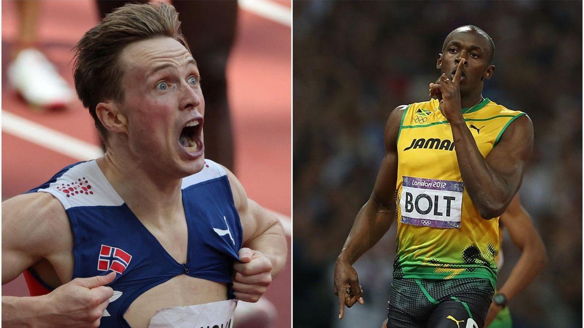 Karsten Warholm, Usain Bolt
