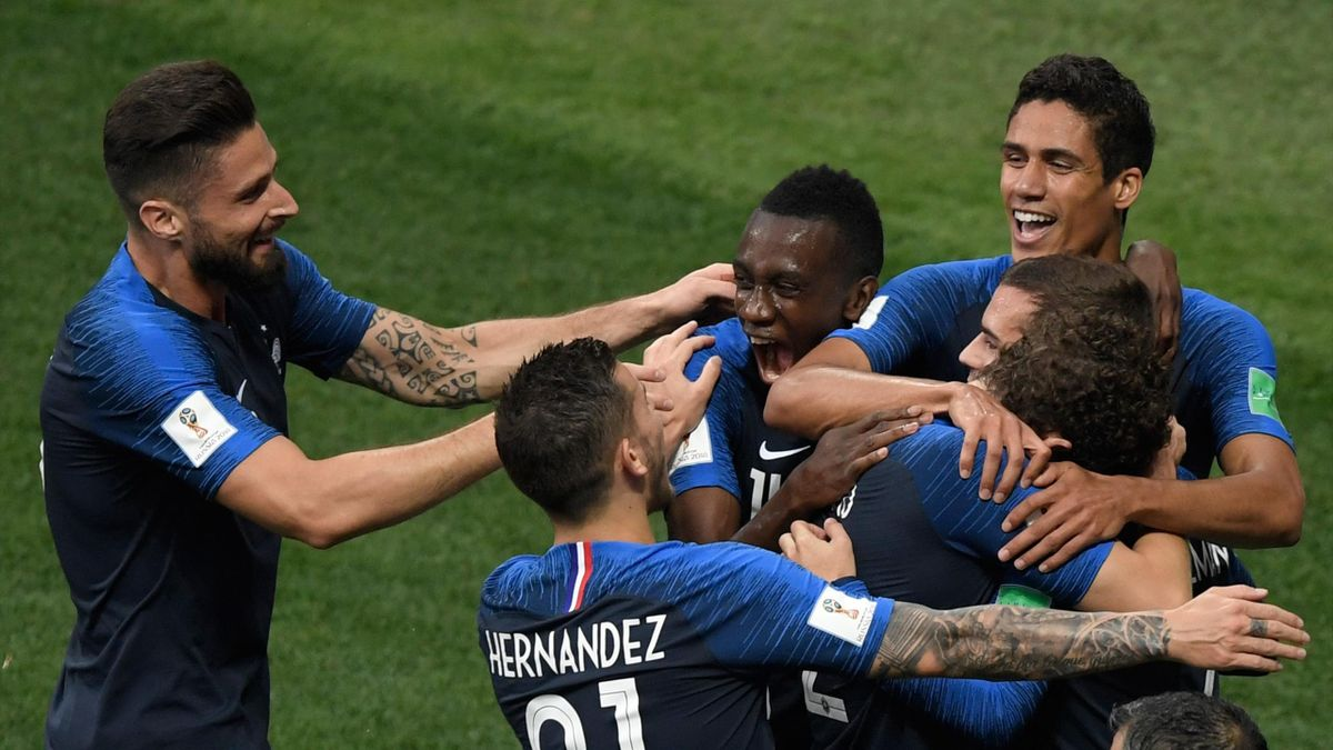 L'équipe de France face à la Croatie
