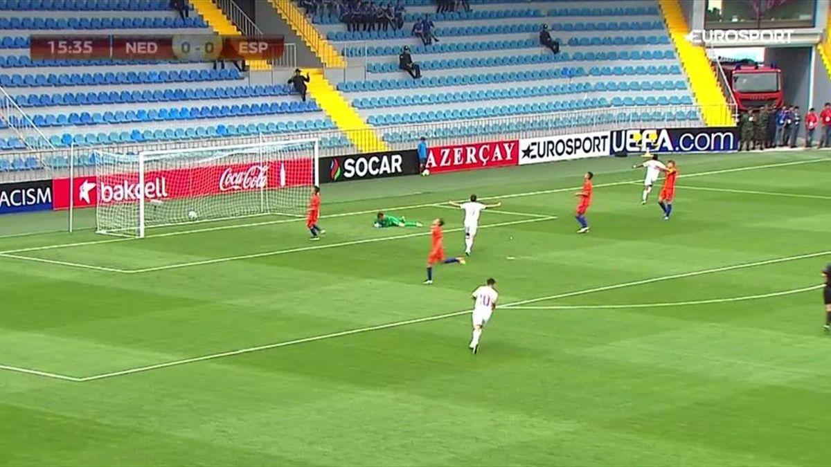 Gol de España ante Holanda - gol de Mboula