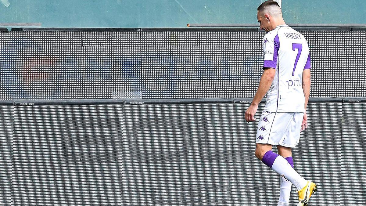 Franck Ribéry a été expulsé avec la Fiorentina sur la pelouse du Genoa (1-1)