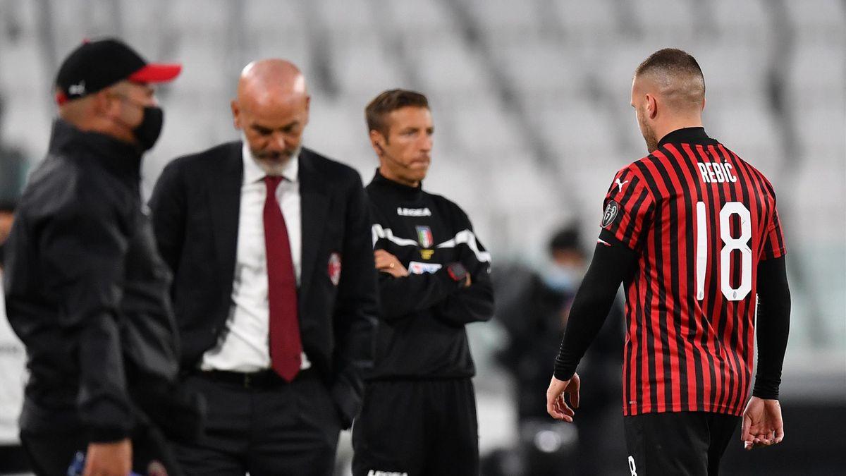 Анте Ребич удален в матче «Ювентус» – «Милан»