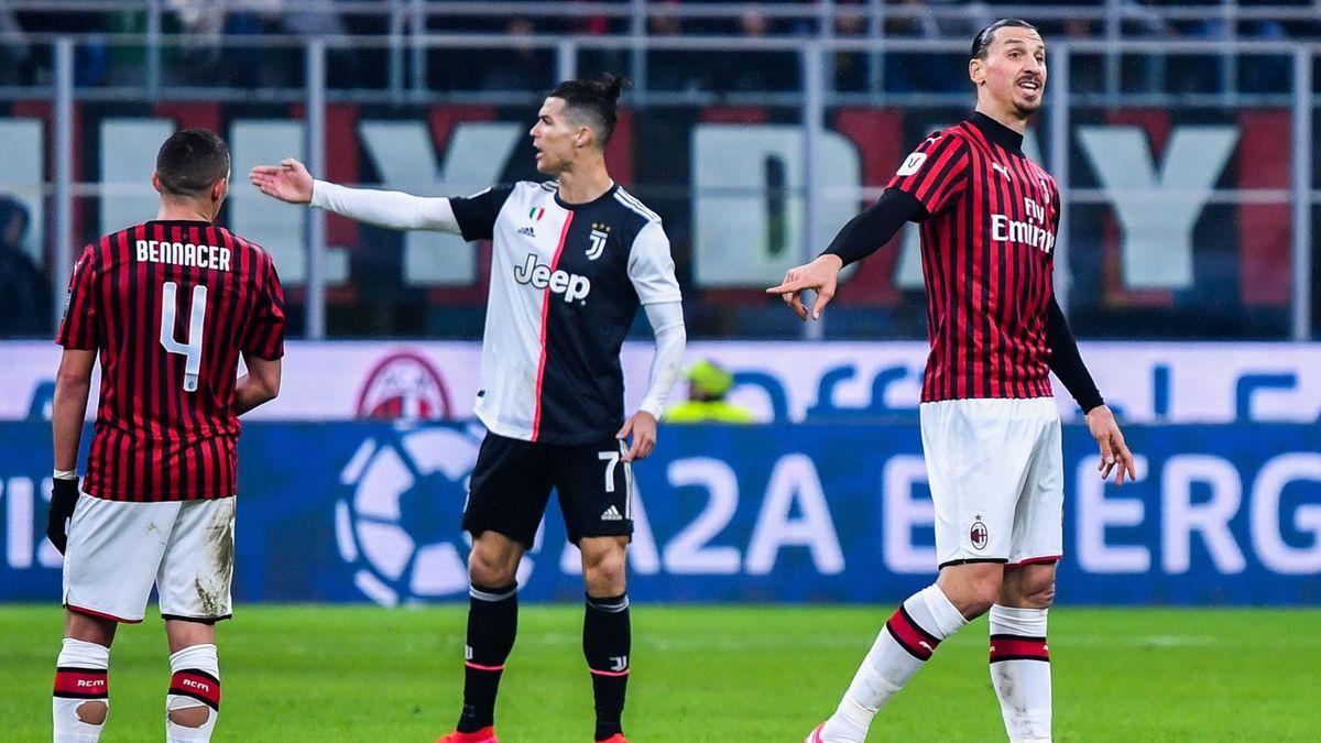 Роналду и Златан в матче «Милан» – «Ювентус»