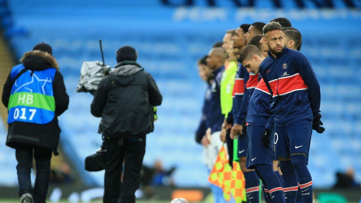 Neymar et ses coéquipiers avant Manchester City - PSG