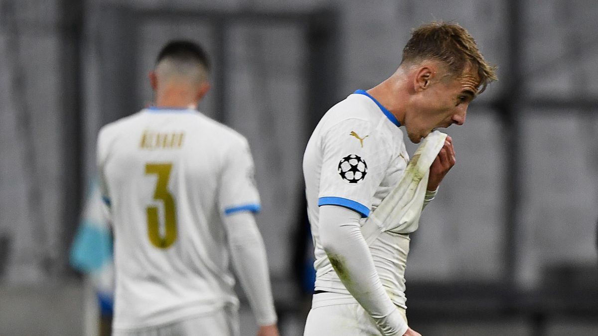 Valentin Rongier lors de OM - FC Porto / Ligue des champions