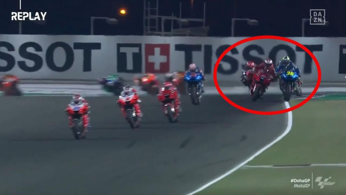Jack Miller (Ducati) y Joan Mir (Suzuki). GP Doha MotoGP 2021