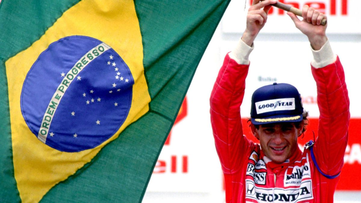 Ayrton Senna (McLaren) au Grand Prix du Brésil 1991