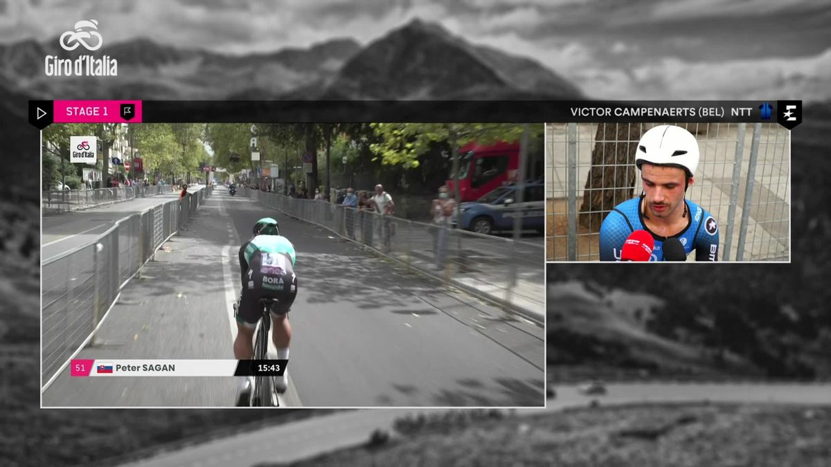 Giro d'Italia: interview Campenaerts after finish
