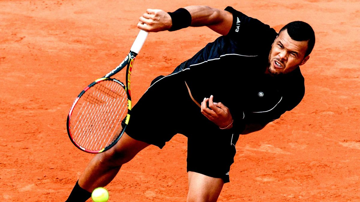 Jo-Wilfried Tsonga bei den French Open 2015