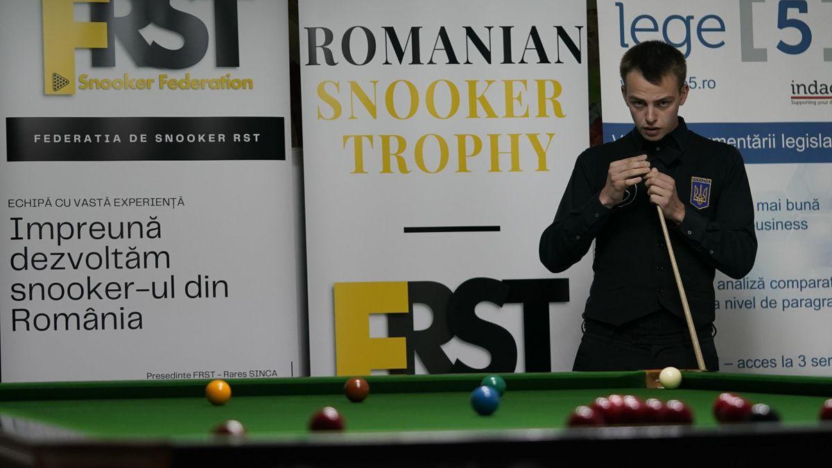 Denys Khmelevski, câștigător ROMANIAN SNOOKER TROPHY