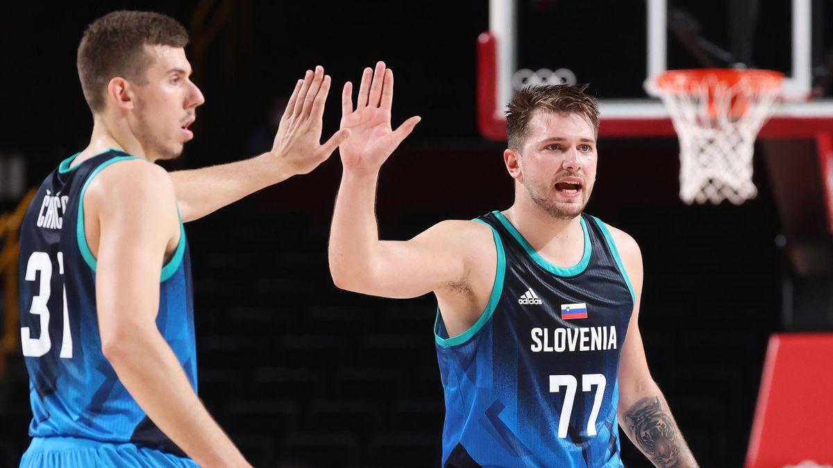 Luka Doncic und Slowenien stehen im Viertelfinale.