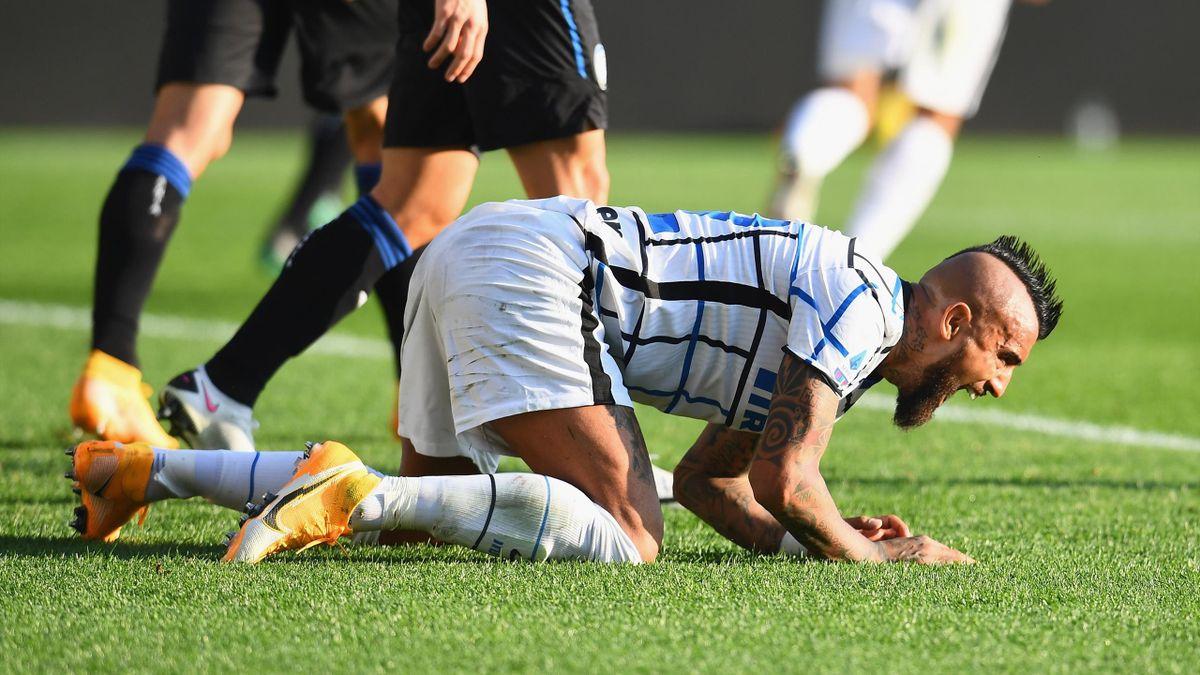 Arturo Vidal face à l'Atalanta Bergame