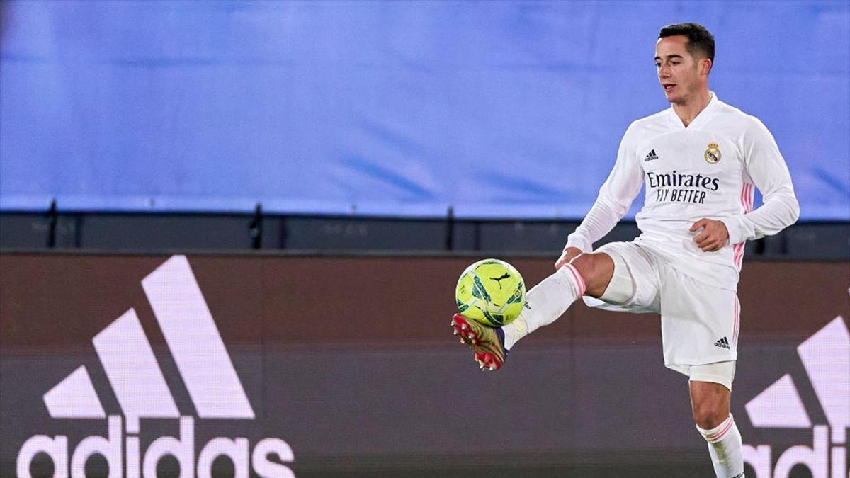 Lucas Vazquez lors de Real Madrid - RC Celta en Liga le 2 janvier 2021
