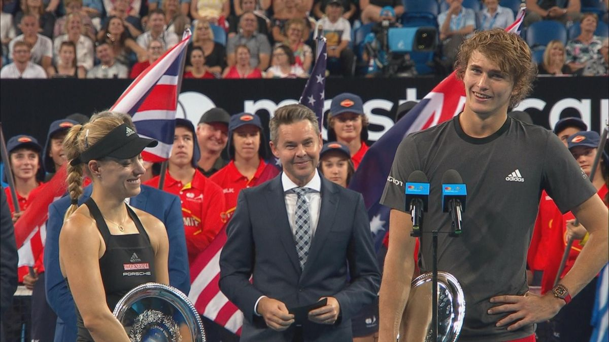 Hopman cup Double : Zverev and Kerber's speech after secound place