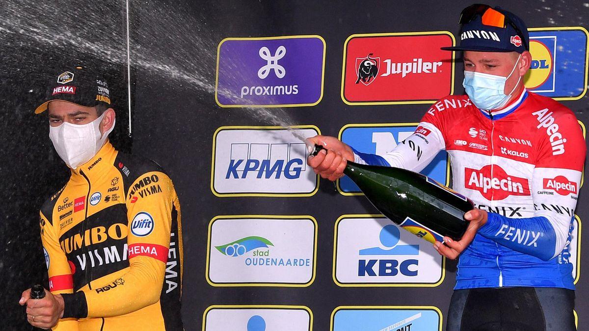 Wout Van Aert und Mathieu Van Der Poel bei der Ronde 2020