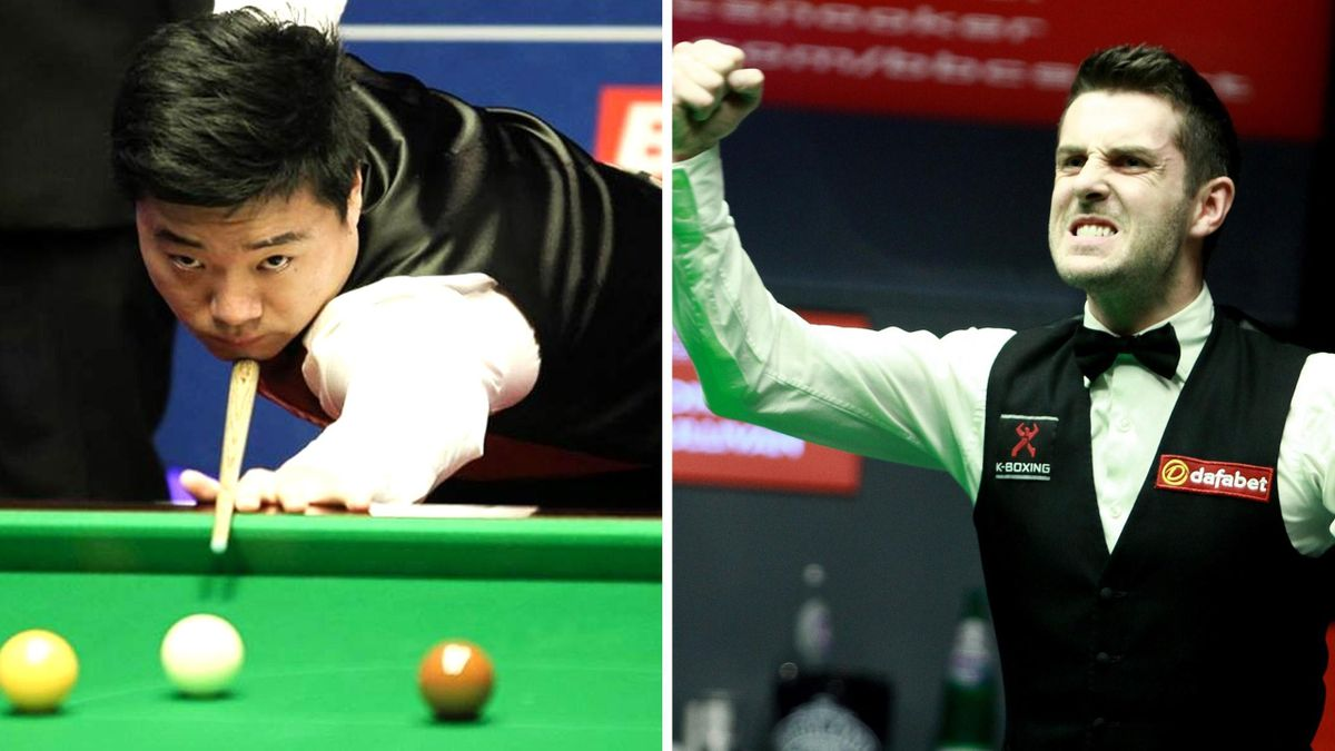 Finalisten Ding Junhui (li.) und Mark Selby (re.)