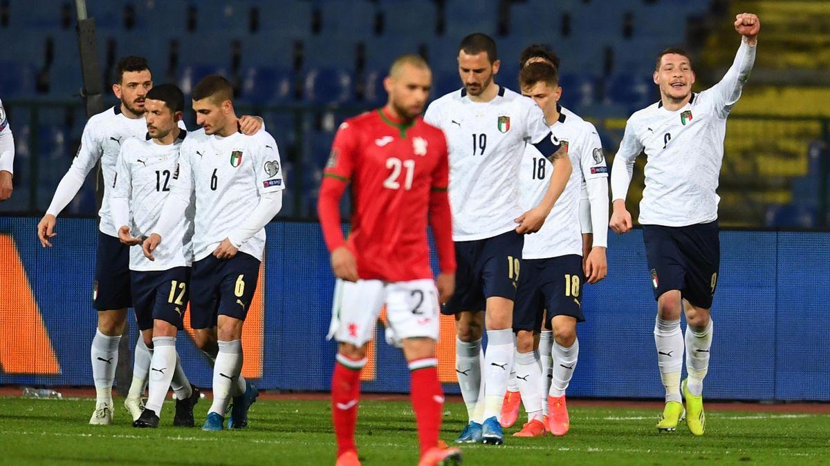 Bulgaria-Italia, Qualificazioni Mondiali 2022 - L'esultanza dopo il gol di Andrea Belotti (Getty Images)