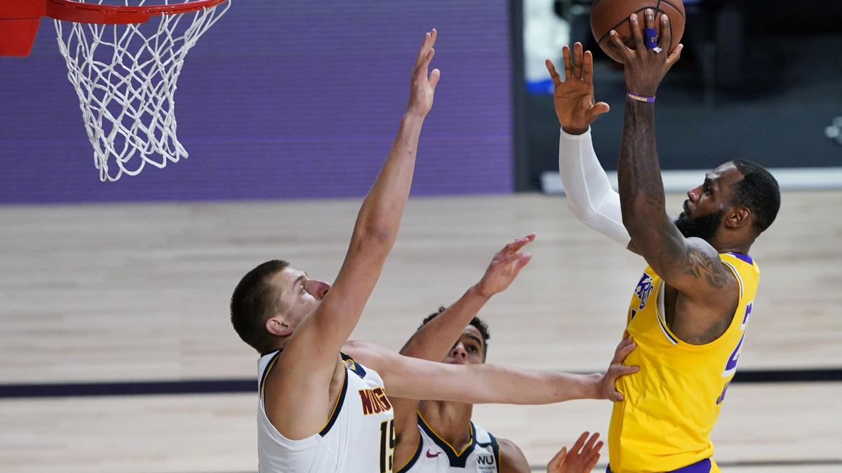 LeBron James e Nikola Jokic, LA Lakers-Denver Nuggets