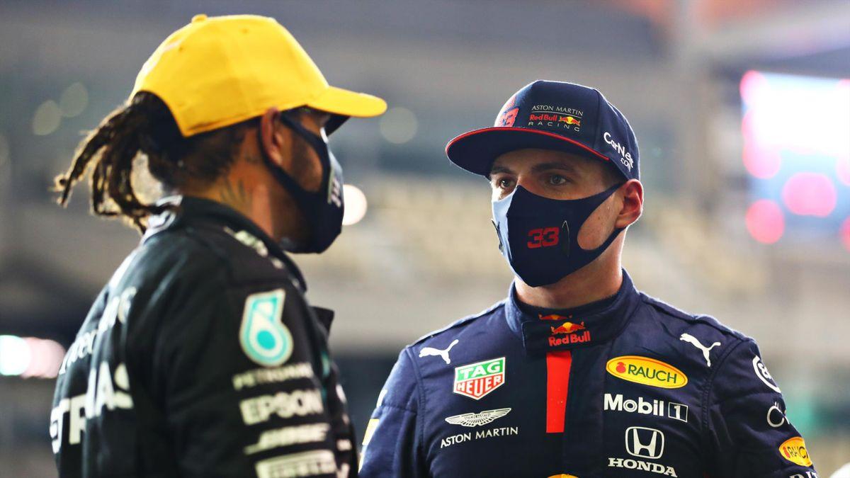 Max Verstappen și Lewis Hamilton
