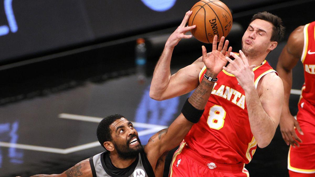 Kyrie Irving e Danilo Gallinari, Brooklyn Nets-Atlanta Hawks, Getty Images