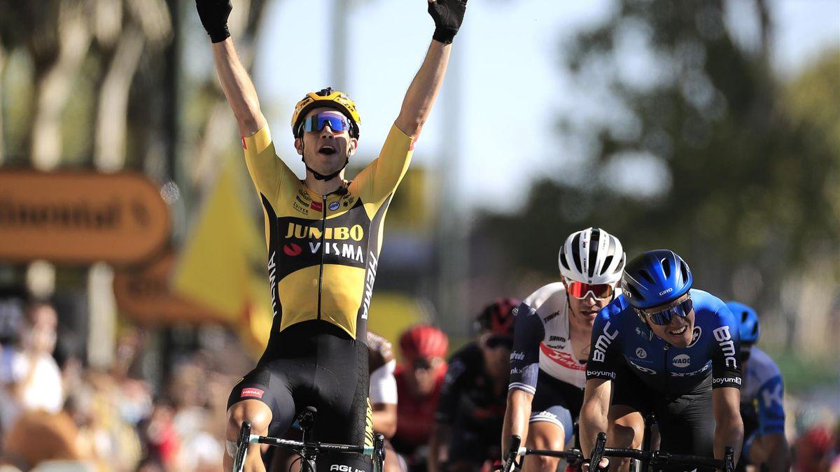 Wout van Aert la învins la sprint pe Edvald Boasson Hagen în etapa 7-a din Turul Franței 2020