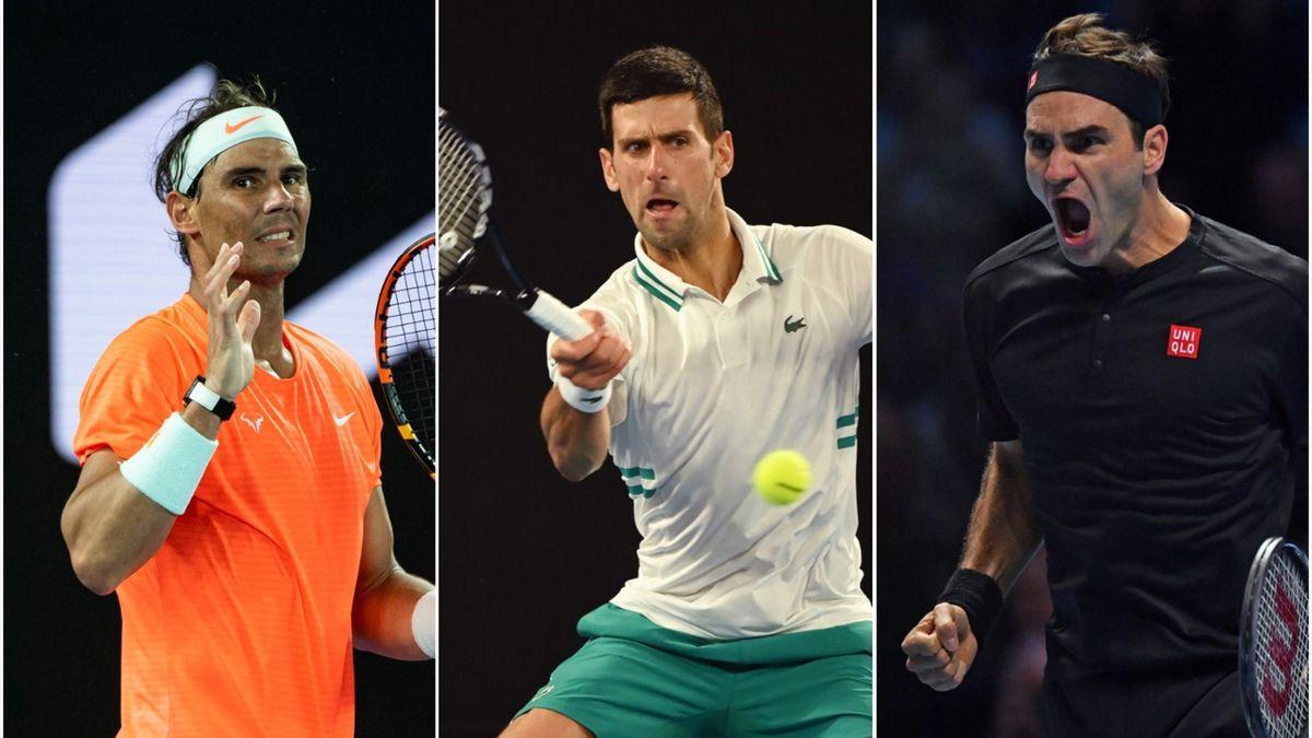 Rafael Nadal, Novak Djokovic, Roger Federer
