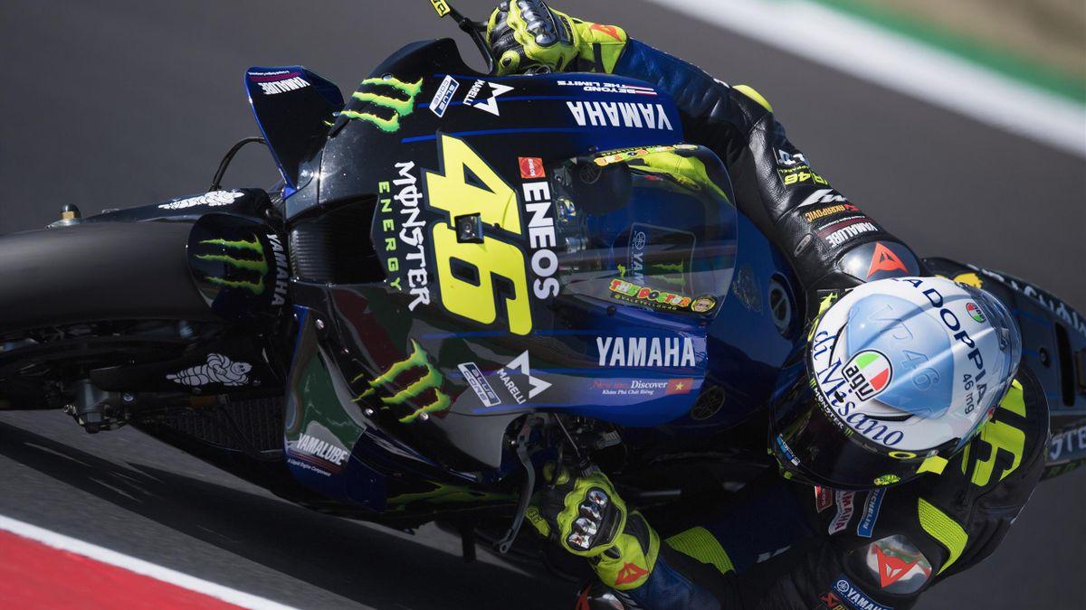 Valentino Rossi proverà a dare la caccia al podio sfuggitogli all'ultimo giro a Misano domenica scorsa