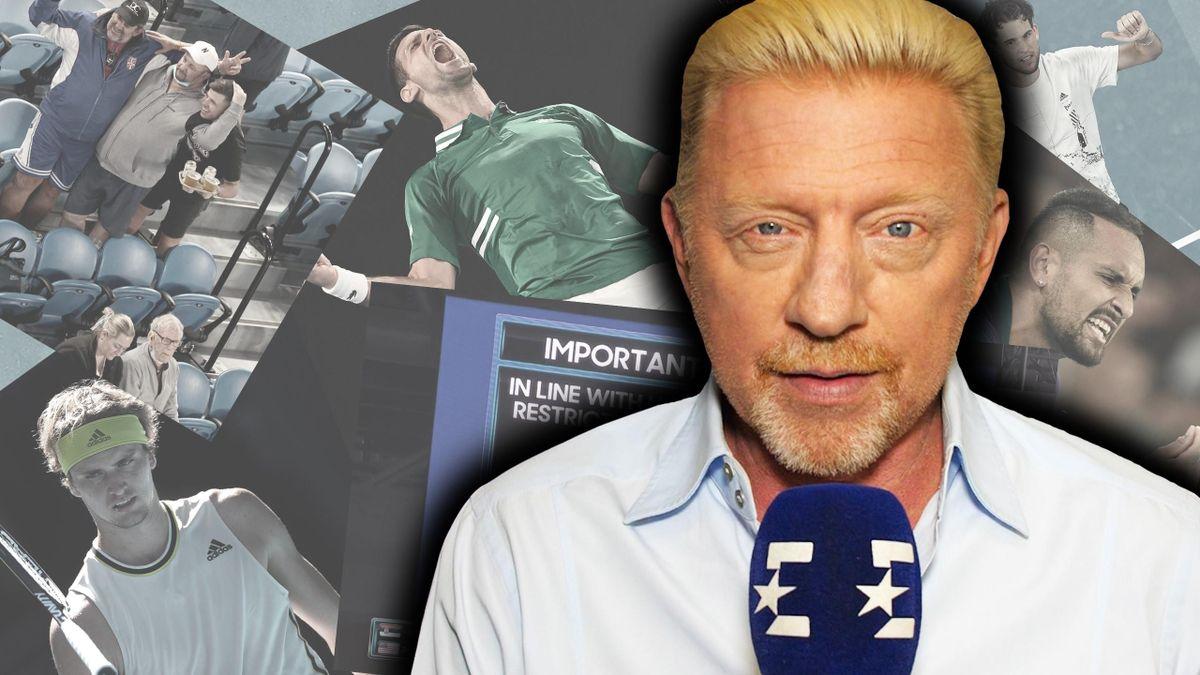 Boris Becker analysiert das Geschehen bei den Australian Open für Eurosport