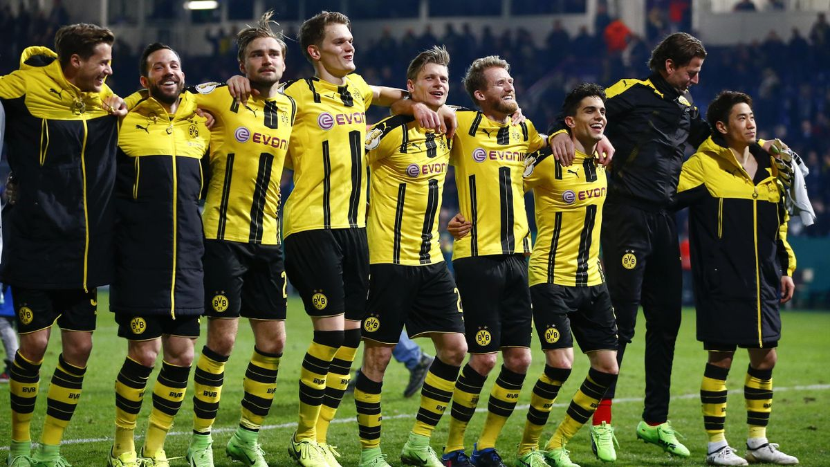 Borussia Dortmund knocked third tier Sportfreunde Lotte out of the German Cup