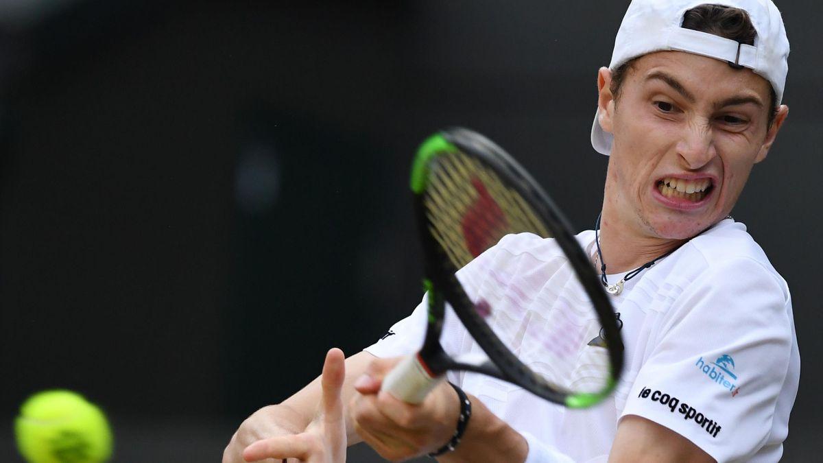 Ugo Humbert à Wimbledon en 2019