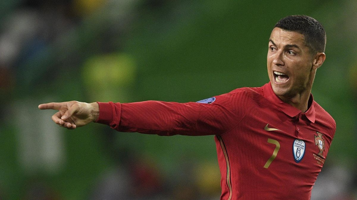 Cristiano Ronaldo lors du match amical opposant le Portugal à l'Espagne, le 7 octobre 2020