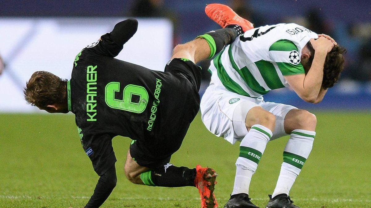 Christoph Kramer (Borussia Mönchengladbach) und Liam Henderson (Celtic Glasgow)
