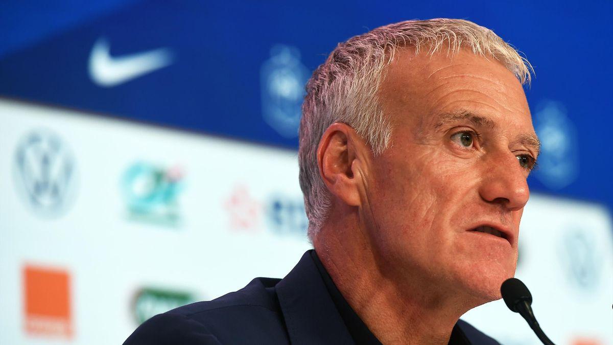 Le sélectionneur des Bleus Didier Deschamps en conférence de presse / Équipe de France