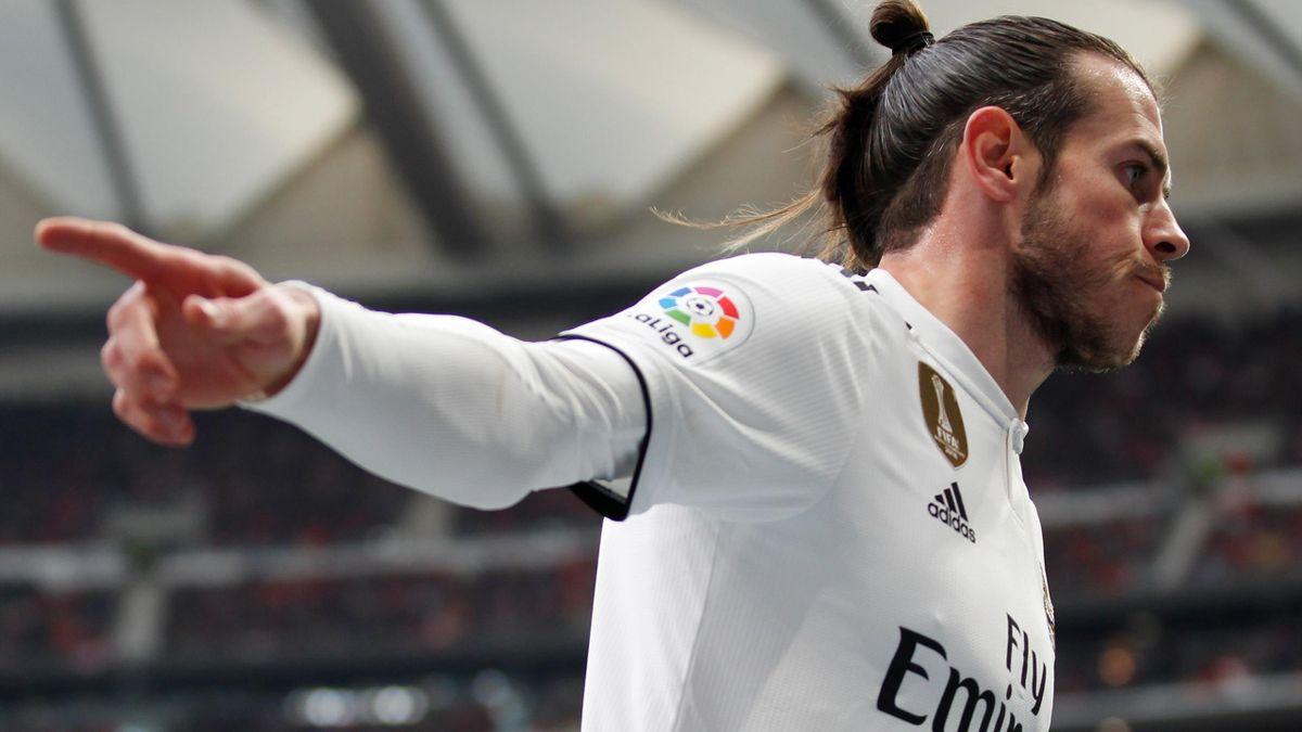 Gareth Bale (Real Madrid) celebra un gol contra el Atlético