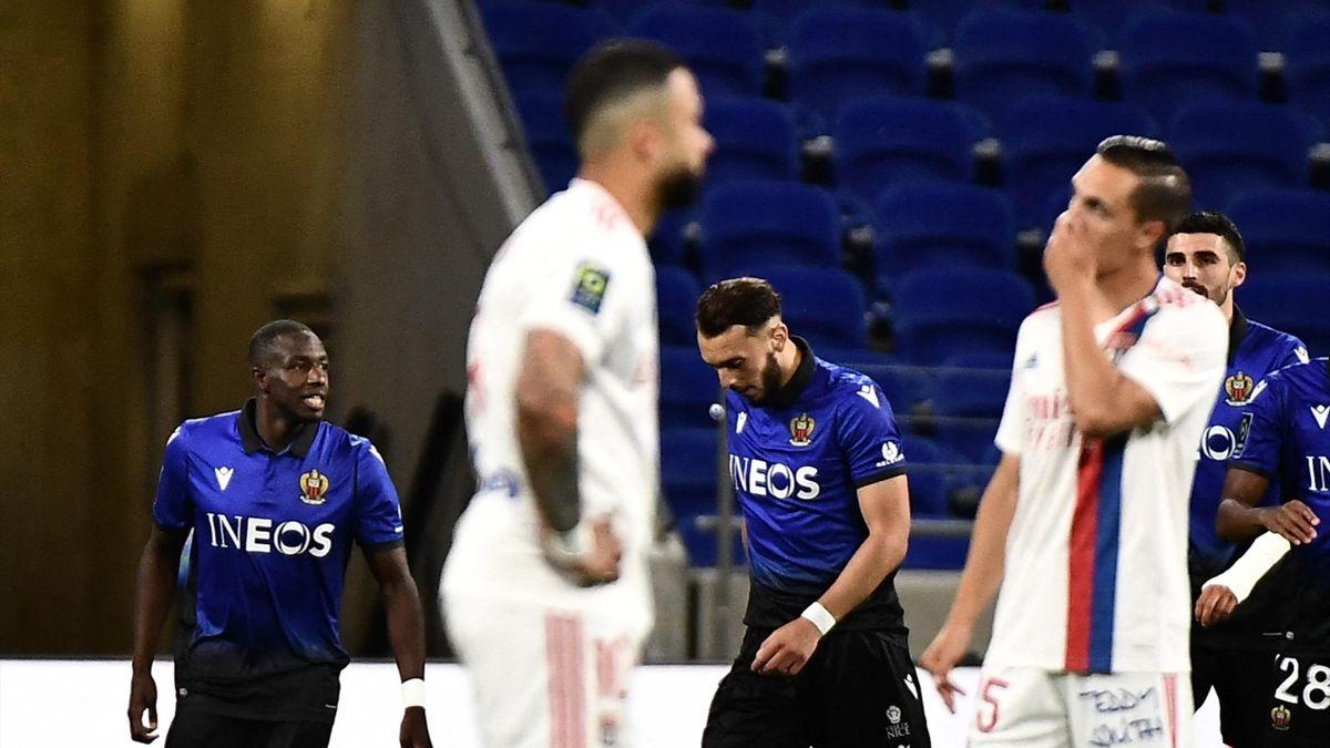 Lyon s'est incliné face à Nice et a vu la Ligue des champions s'envoler
