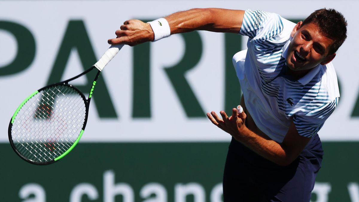 Filip Krajinovic à Indian Wells en 2019