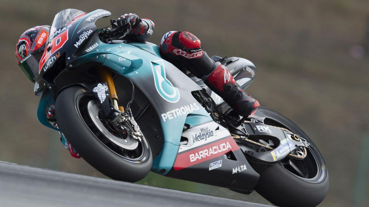 Fabio Quartararo lors du Grand Prix de République tchèque