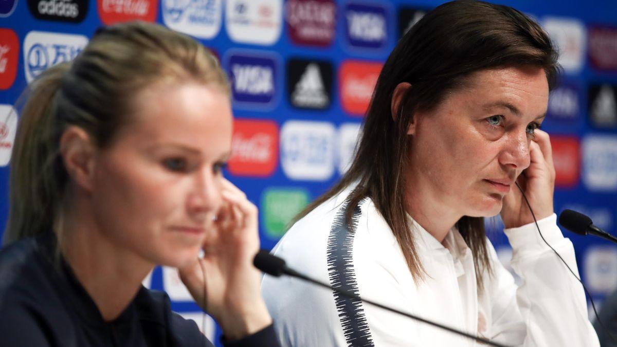 Amandine Henry et Corinne Diacre lors du Mondial 2019