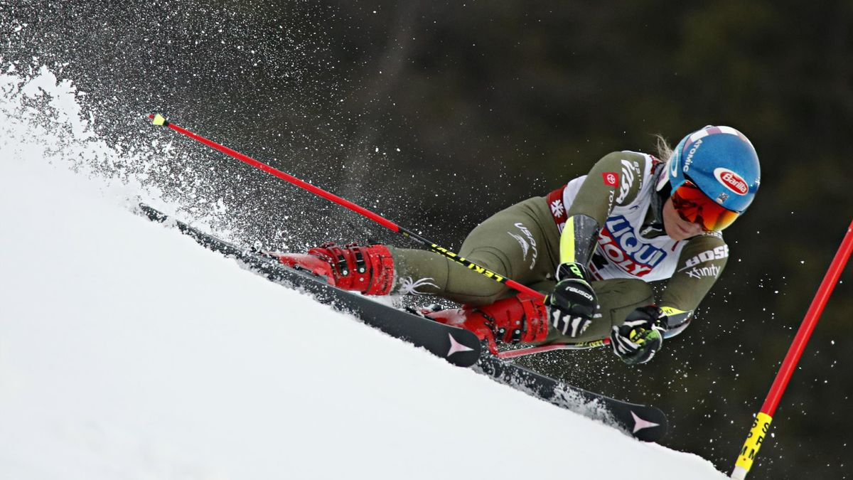 Mikaela Shiffrin of USA in action during the FIS World Ski Championships Women's Giant Slalom on February 14, 2019 in Are Sweden