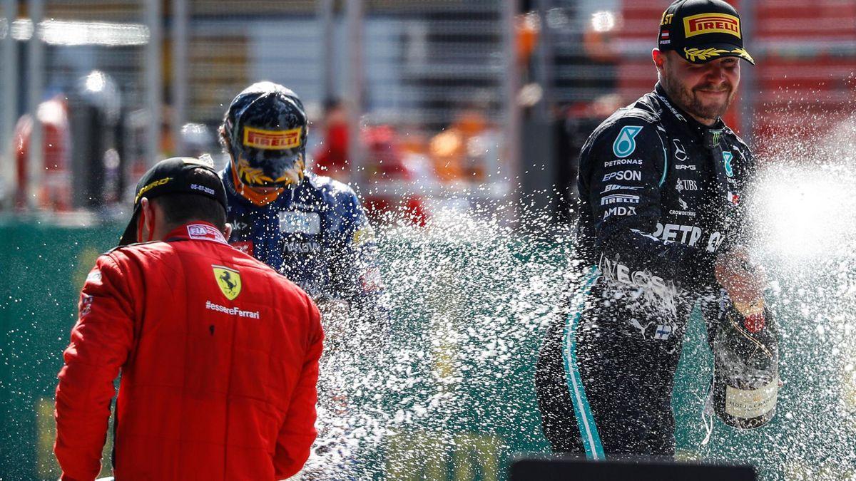 Valtteri Bottas and Charles Leclerc.