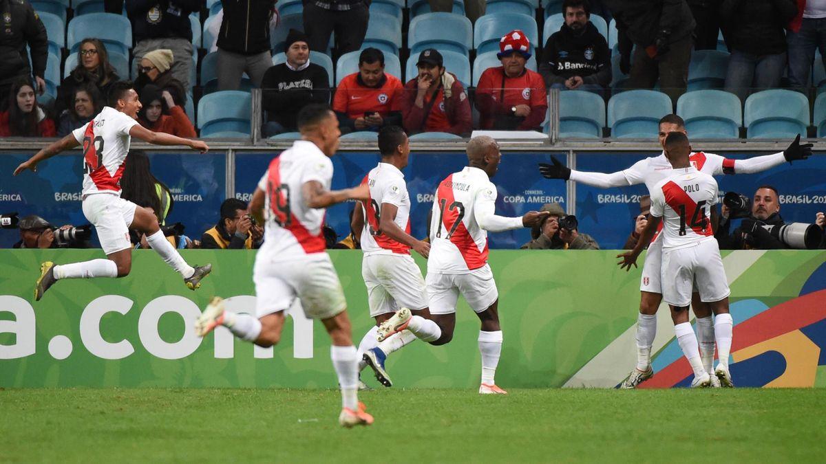 Jose Guerrero buteur pour le Pérou contre le Chili en demi-finale de Copa América 2019