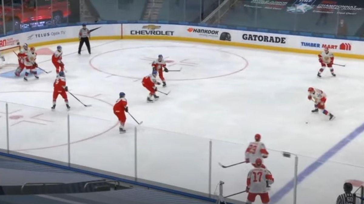 Россия – Чехия на МЧМ-2021 (скриншот)