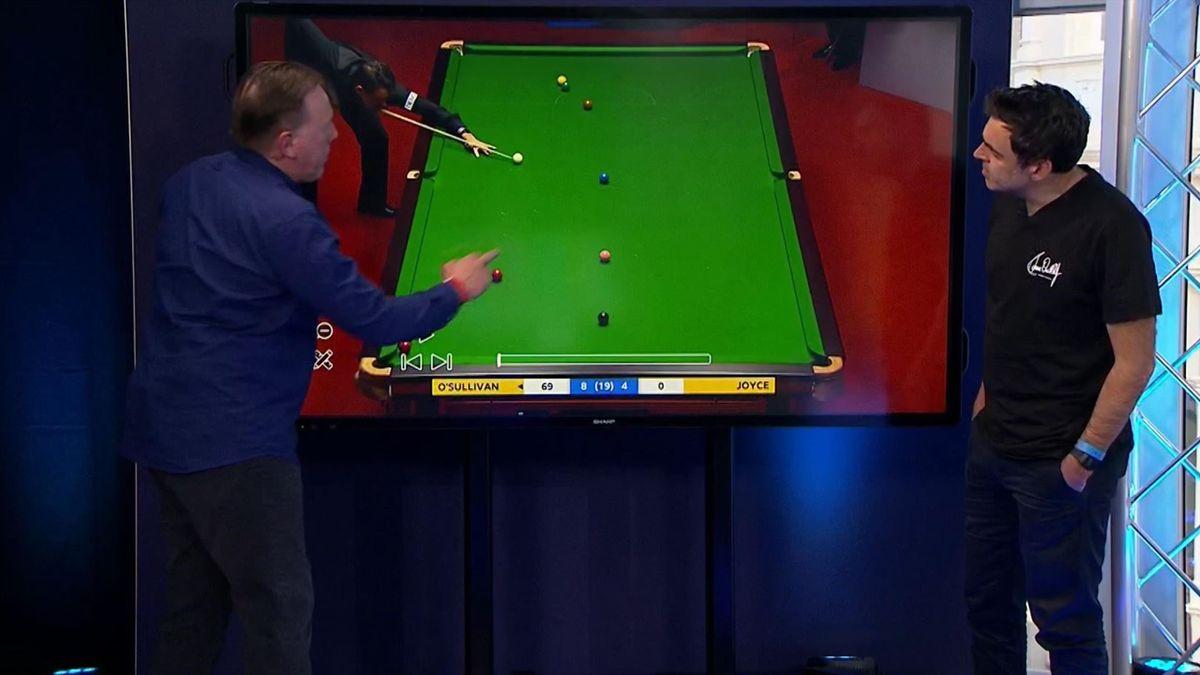 'I just fancied it' – O'Sullivan explains wonder shot on Eurosport's touchscreen