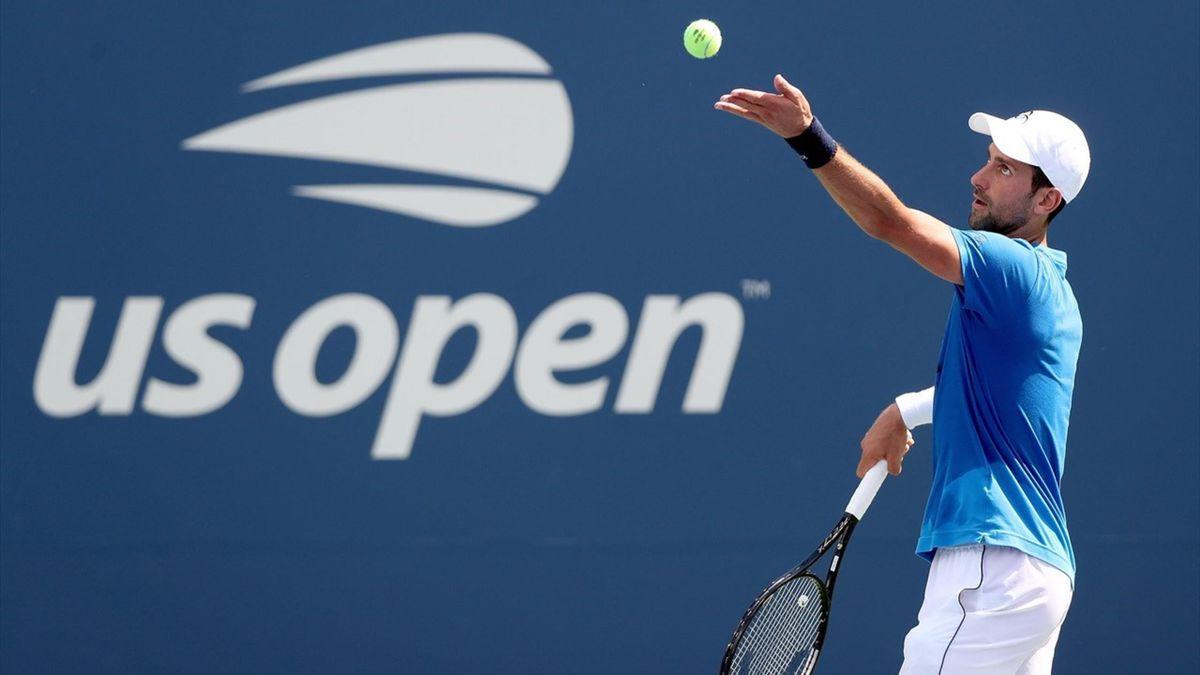 Djokovic op de US Open 2019