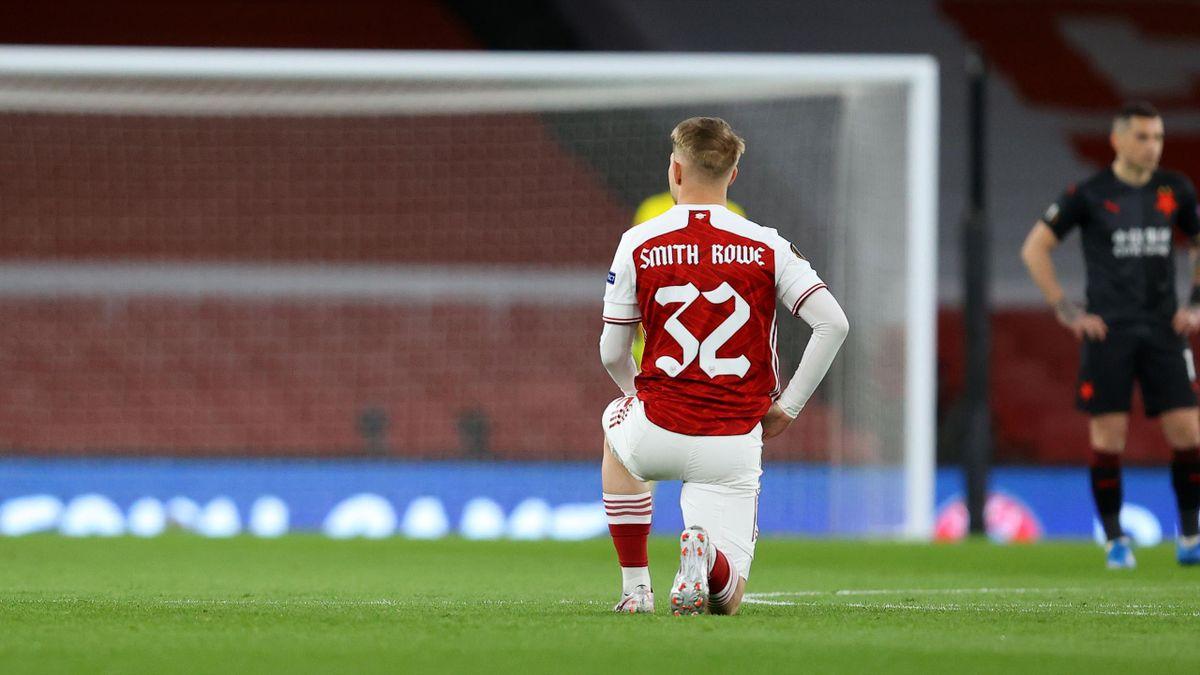Imagini din startul partidei Arsenal - Slavia 1-1. Stanciu a jucat 84 de minute