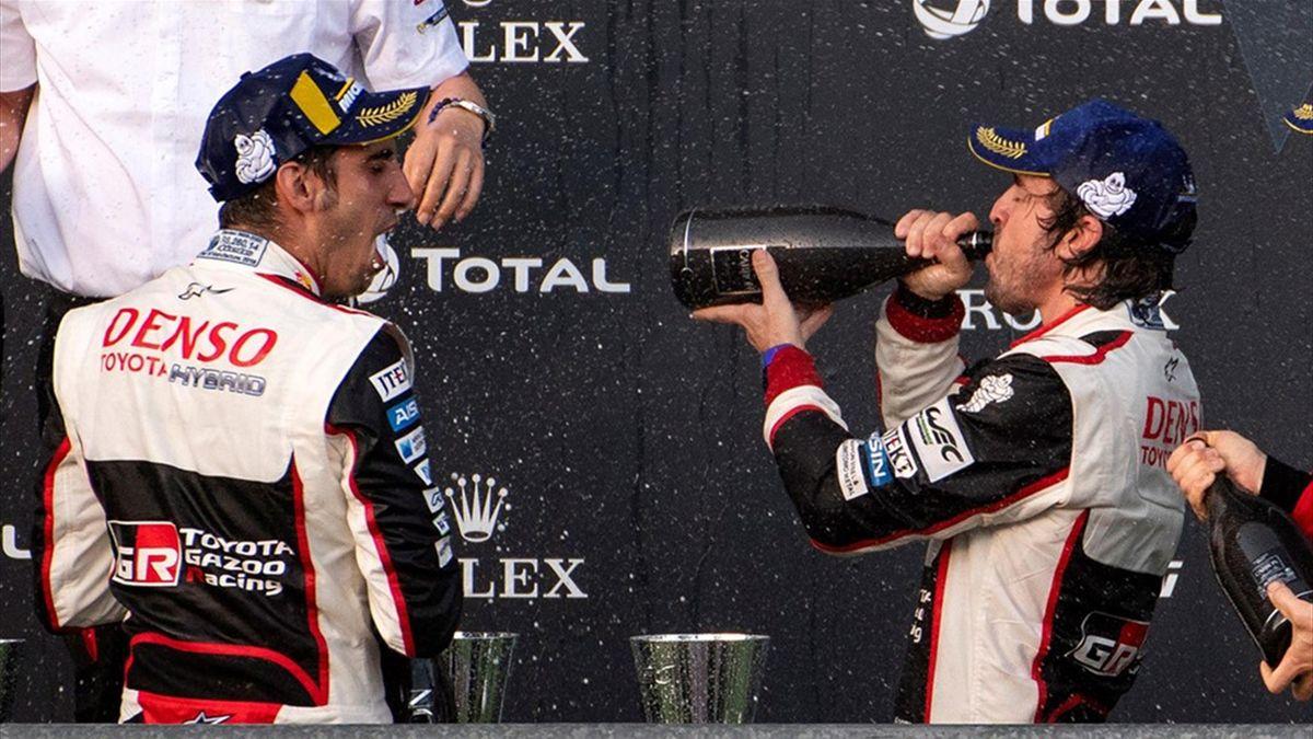 Fernando Alonso, en el podio de las 6 Horas de Spa