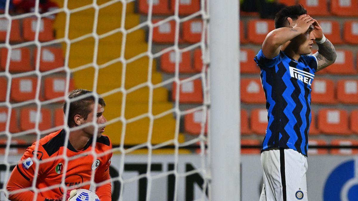 La delusione di Lautaro Martinez, Spezia-Inter, Getty Images